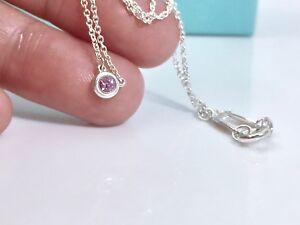 d622ce2c4 La foto se está cargando Tiffany-amp-Co-Plata-Peretti-Color-Zafiro-Rosa-