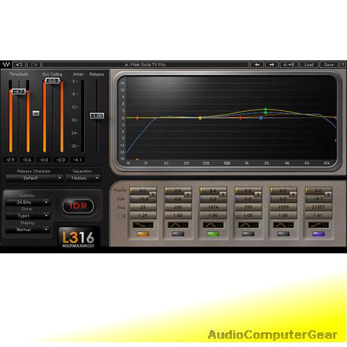 Waves L3-16 MULTIMAXIMIZER Plugin Bundle Mastering Limiter Audio Software NEW