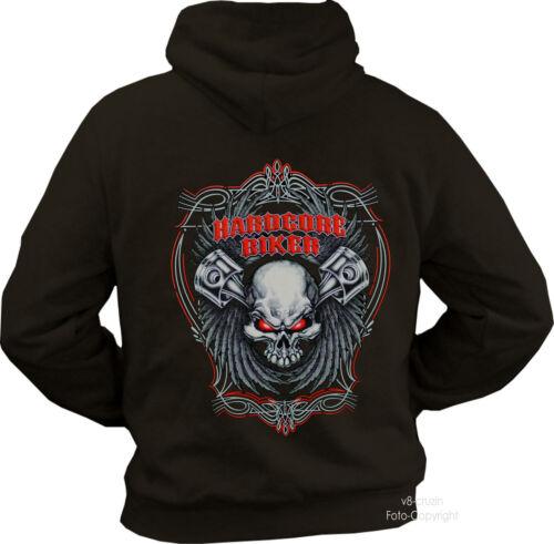 * Hoodie Biker Tribal Totenkopf Piston Rocker Chopper Fighter *4317 br