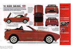 1988/1989/1990/1991 Tvr 450 Seac Spezial Folie Fotos Broschüre