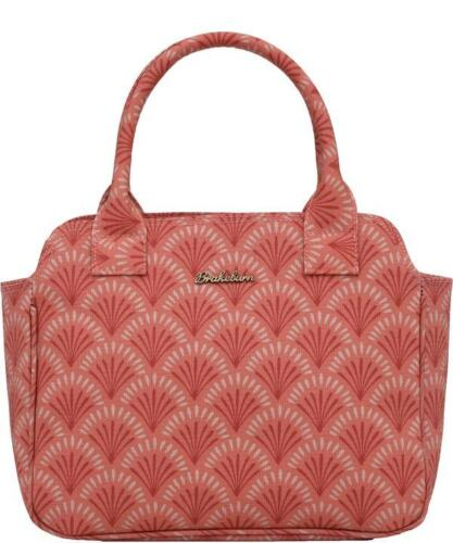 Brakeburn Coral Red Shells Bowling Bag Retro Coated Canvas