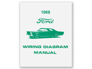Details about New 1966 Galaxie Wiring Diagram Manual 500 XL LTD Custom on