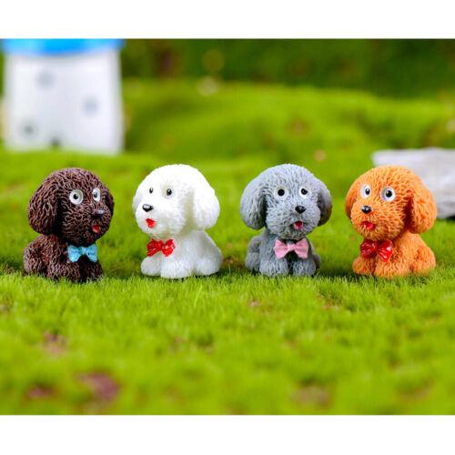 4pcs Micro Landscape Decor Animal Figurines Miniature Craft Fairy Garden Supply