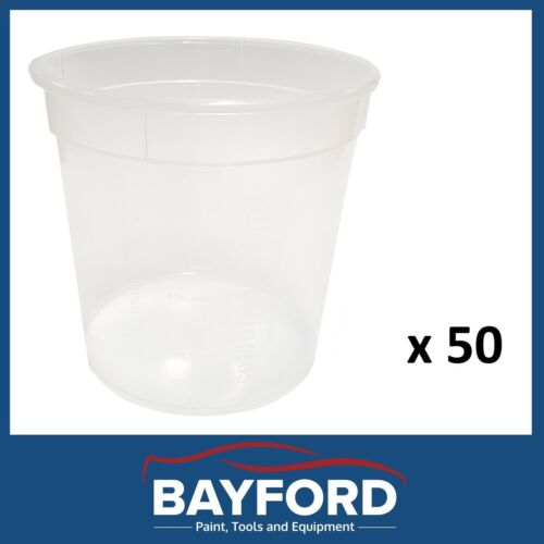 CALIBRATED MIXING CUPS FOR PAINT MIXING 800ML CALIBRATED RATIOS QTY OF 50