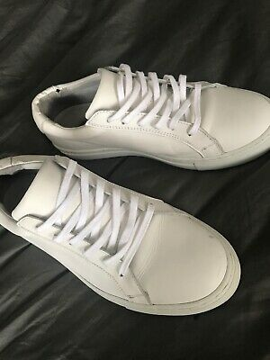 Modern White Leather Sneakers Sz 11