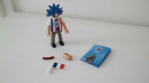 HOT DOG new fig Playmobil SERIES 10 SOCCER FAN W// WILD HAIR orig pkg PM #6840