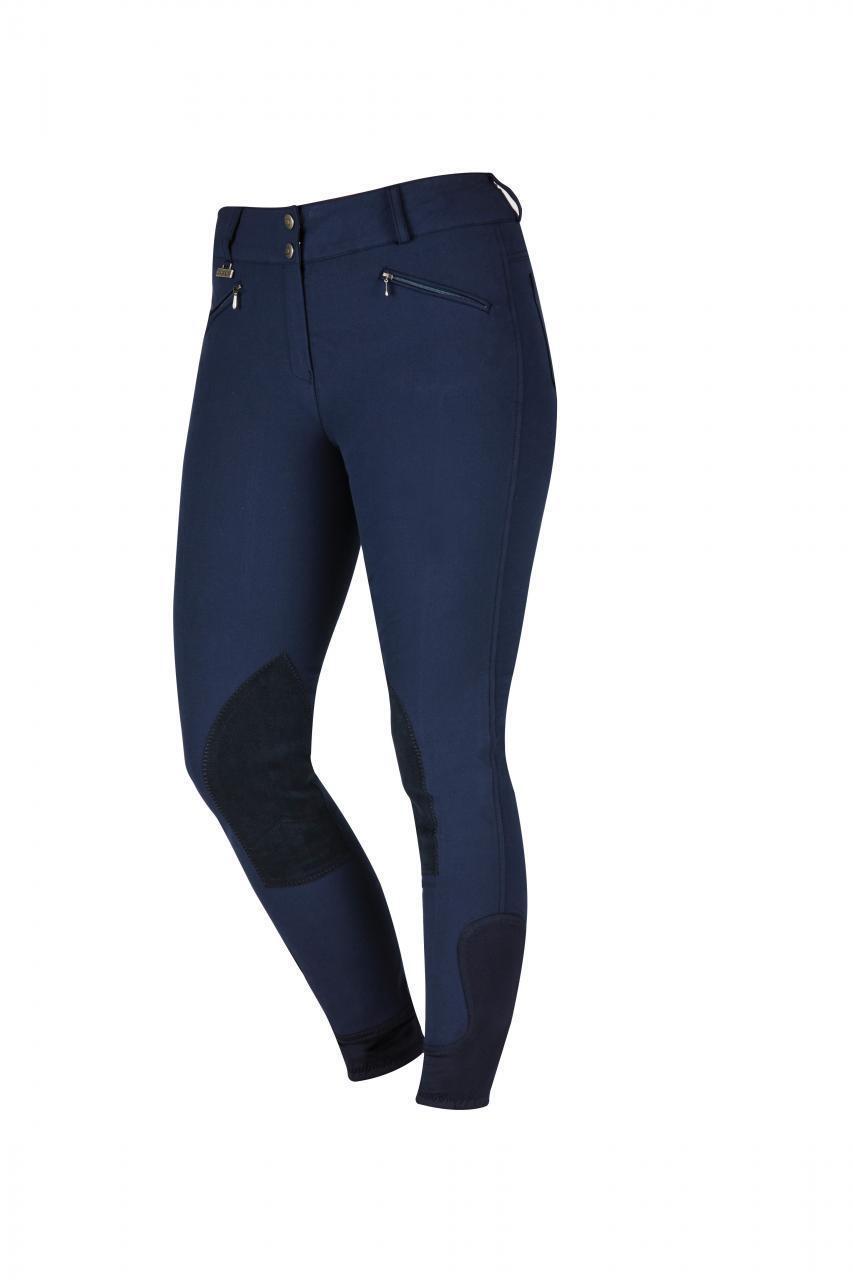 Dublin Supa forma de rendimiento señoras Clarino rodilla Pantalones de montar en Marina  28