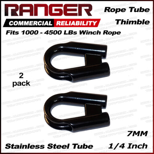 """Ranger 7MM 1//4/"""" Stainless Steel Rope Tube Thimble for 1//4/"""" or 3//16/"""" Wire or Rope"""