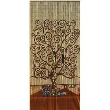 Beaded Door Curtains Bamboo Wall Hanging Drapes Room Divider Beads Tree Of Life