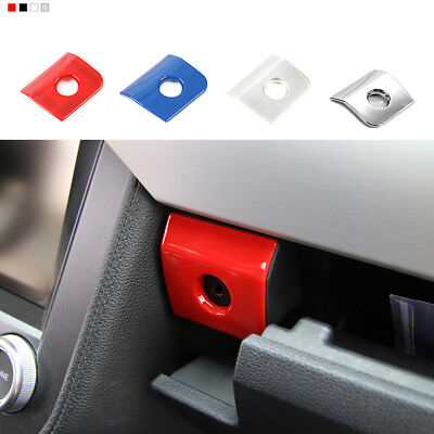 Matt ABS Armrest Storage Box Switch Cover Trim Frame for Ford Mustang 2015 2016