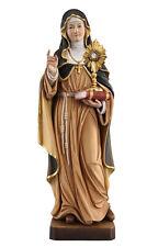 Statua  Santa Chiara cm 30 - In legno scolpita a mano - Dorature in foglio oro