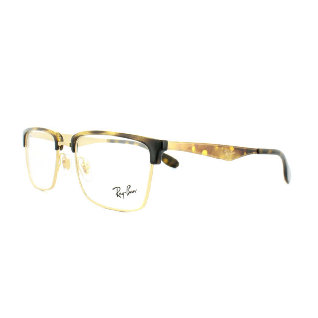 ce1438857fc Ray-Ban Glasses Frames RX 6397 2933 Gold Havana Mens Womens 52mm