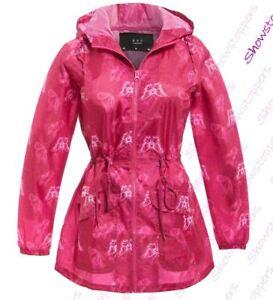 70a91cf39e9 Size 8 - 22 Womens Rain Mac Showerproof Raincoat Ladies Jacket Pink ...