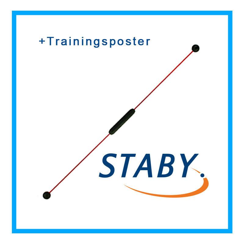 Original Staby Standard Flexi-Fun Schwingstab + Trainingsposter NEU+OVP
