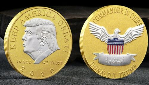 Donald Trump 2020 Keep America Great Challenge Coin 2-Tone Gold With Silver Face