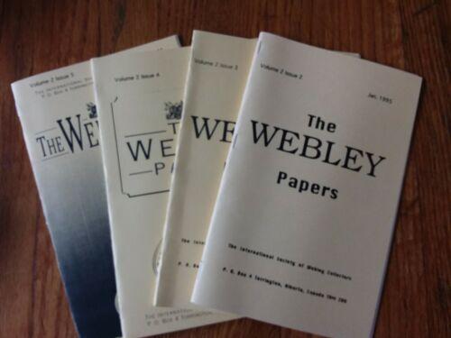 "/""The Webley Papers/"" The Webley Collectors Bi-Monthly Collectors Booklet 1995 Set"