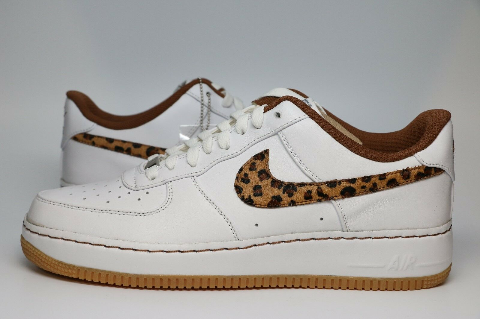 NikeID Air Force 1 Leather, Leopard Pony Hair   Size 10.5   Style 574263-979