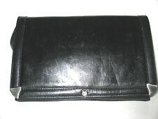 Schultertasche Tasche Schwarz Leder Look Bag Sac Boho Black Vintage Dey Clutch