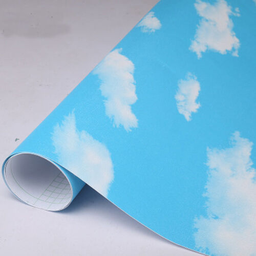 Blue sky and white cloud 3D  ceiling Wallpaper Self-adhesive  Home Decor