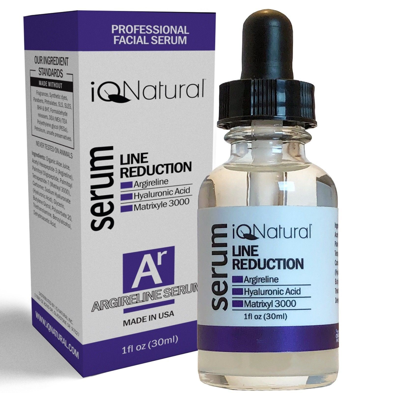 Wrinkle Firming Peptide Facial Serum / w/ Argireline, Matrixyl & Hyaluronic Acid 3