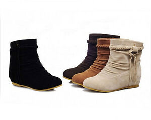 New Women's Girls Tassels Ankle Boots Fringes Flat Shoes AU All ...