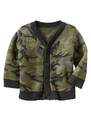 GAP Baby Toddler Boy Size 12-18 Months NWT Camo Cardigan Button Down Sweater