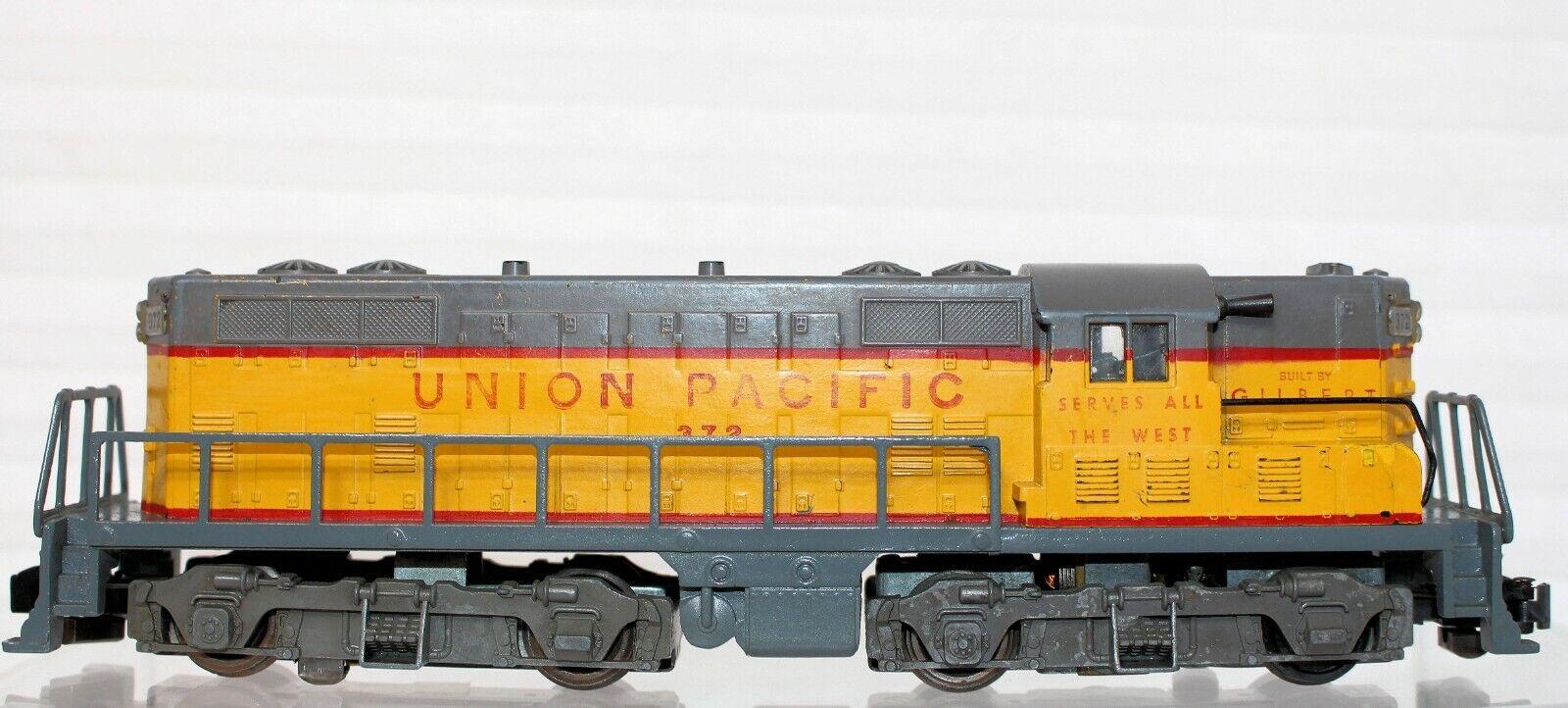American Flyer costruito da Gilbert Union Pacific 372 tipo II GP7 loco Testatocorre