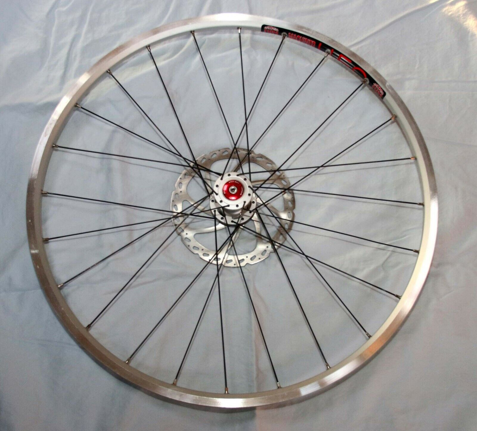 Cannondale Lefty 26  front wheel 24s Sun UFO rim, extra light, w redor NEW
