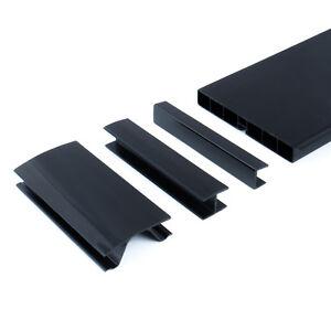 150mm nero 1 5m zoccolo mobili e accessori pvc protezione