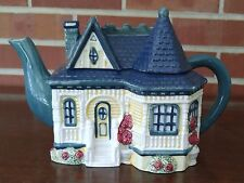 Cracker Barrel Victorian House Cottage Teapot Cookie Jar 1998