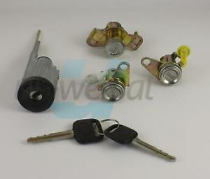 LOCK-SET-for-TOYOTA-COROLLA-E10-2-door-lock-cylinder-ignition-trunk-LHD