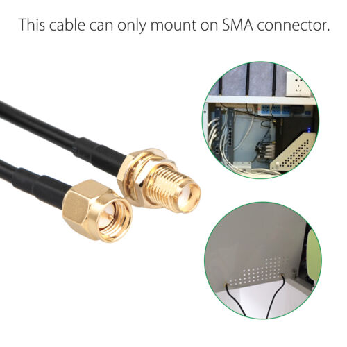30ft WiFi Antenna SMA Extension Coaxial Cable Cord for Wi-Fi Wireless Router