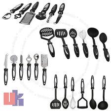 12 Piece Stainless Steel Kitchen Cooking Utensil Set Gadget Nylon Handles UKED
