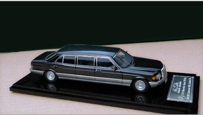 1/43 Mercedes-Benz W126 serie 500SEL Saloon de 2018 (Negro)