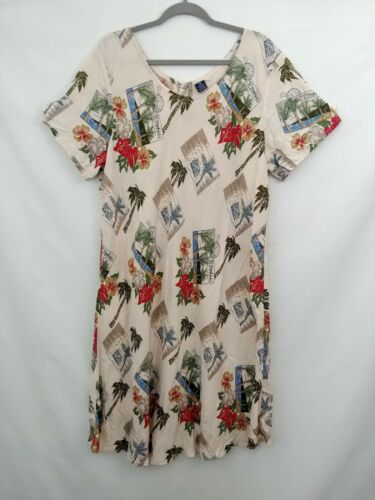 Hibiscus Collection Rayon Dress Tropical Postcards