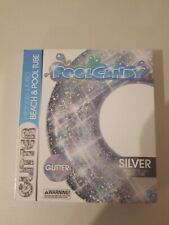 PoolCandy Jumbo Silver Glitter Inflatable Beach and Pool Tube 48 Inches