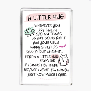 GREAT GIFT FRIENDSHIP POEM MAGNET SUPPORT CUTE LOVE A LITTLE HUG