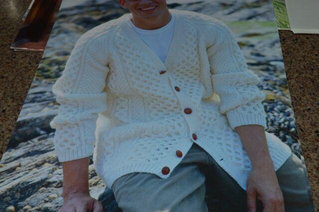 Sirdar Knitting Pattern 8359 Aran Cardigan Men 38-48 | eBay