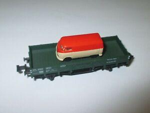 Fleischmann-8201-Werkstatt-Wagen-2achs-Vert-Bel-Avec-Rietze-Bully-gt-Top
