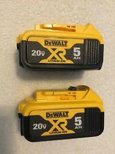 2 New Dewalt 2019 20V Max XR DCB205 5.0Ah Lithium Ion Batteries Li-ion DCB205-2