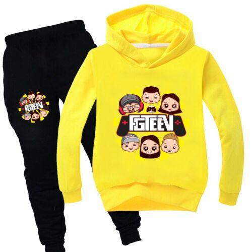 New GURKEY FUNnel Vision FGTeeV Family Gaming Kids Hoodies Pocket Warm Tops