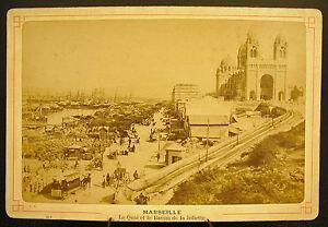 Photo-c1880-Le-quai-bassin-port-de-la-Joliette-Marseille-Photographie-ancienne
