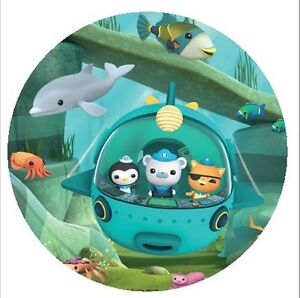Octonauts Round Edible Cake Topper 19cm Can be Personalised eBay