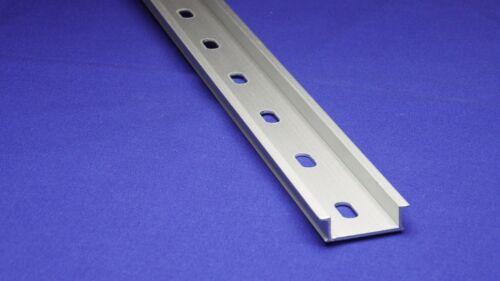 DIN Rail - 350 mm (14 Inch) NEW Pre-Cut 35x10mm Heavy Duty Aluminum, Slotted