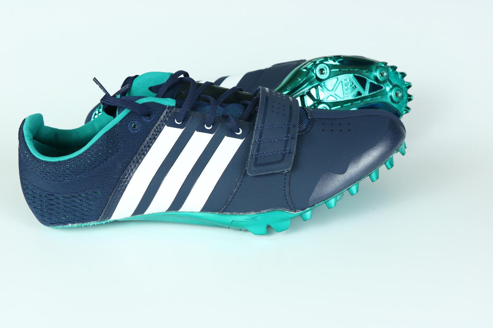 New Mens Adidas Blue White Running Adizero Accelerator Spikes S78629 Sz 7.5, 9.5