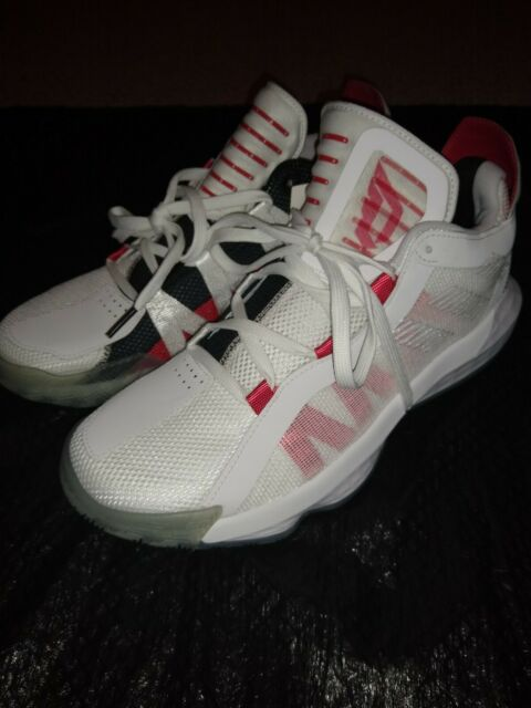 Adidas Dame 6 Dame Time EH2069 White Red Basketball Shoes Size 10 Men's NWT