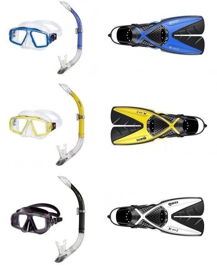 Mares Opera Snorkel Set with X-Ones Snorkel Fins Size 35-47 Var. Colours Fin