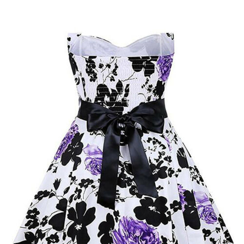 Womens Holiday Shoulder Swing Floral Party Prom Ladies Summer Beach Mini Dress