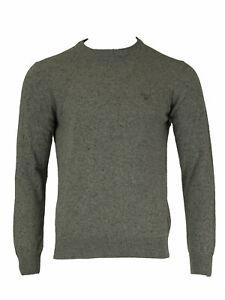 GANT Men's Dark Grey Melange O1 Donegal Crew Sweater 86551 Size Medium NWT