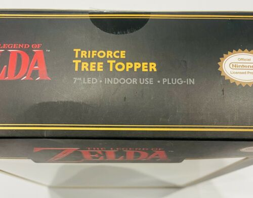 The Legend Of Zelda Triforce Plug In Light Up Christmas Tree Topper Mario Link